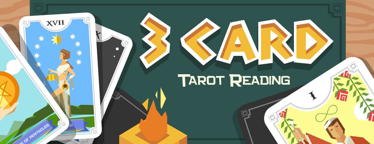 3 Card Tarot Reading Game Learn your past, present and future with three tarot cards.